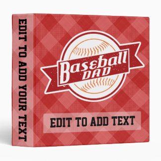 Baseball Dad Vinyl Binder, Personalize It! Binder