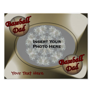 Baseball Dad Your Photo Poster