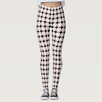 Baseball Design All-Over Print Leggings