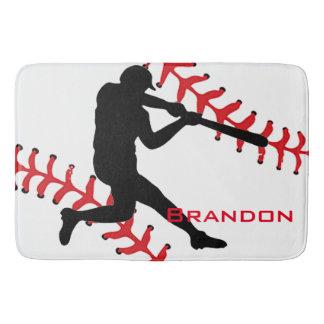 Baseball Design Bath Mat