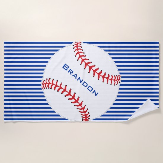 Baseball Design Beach Towel
