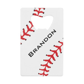 Baseball Design Bottle Opener Credit Card Bottle Opener