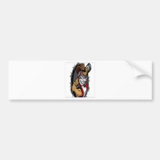 Baseball design bumper sticker