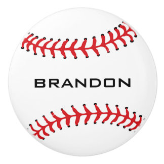 Baseball Design Ceramic Pull Ceramic Knob