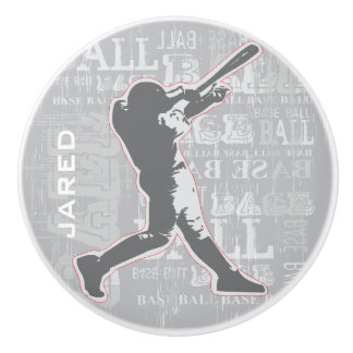 Baseball Design Ceramic pull or Knob Ceramic Knob