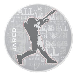 Baseball Design Ceramic pull or Knob