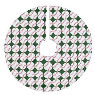 Baseball Design Christmas Tree Skirt