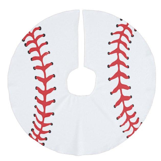 Baseball Design Christmas Tree Skirt | Zazzle