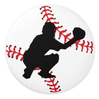 Baseball Design Drawer Pull, Cabinet Knob Ceramic Knob