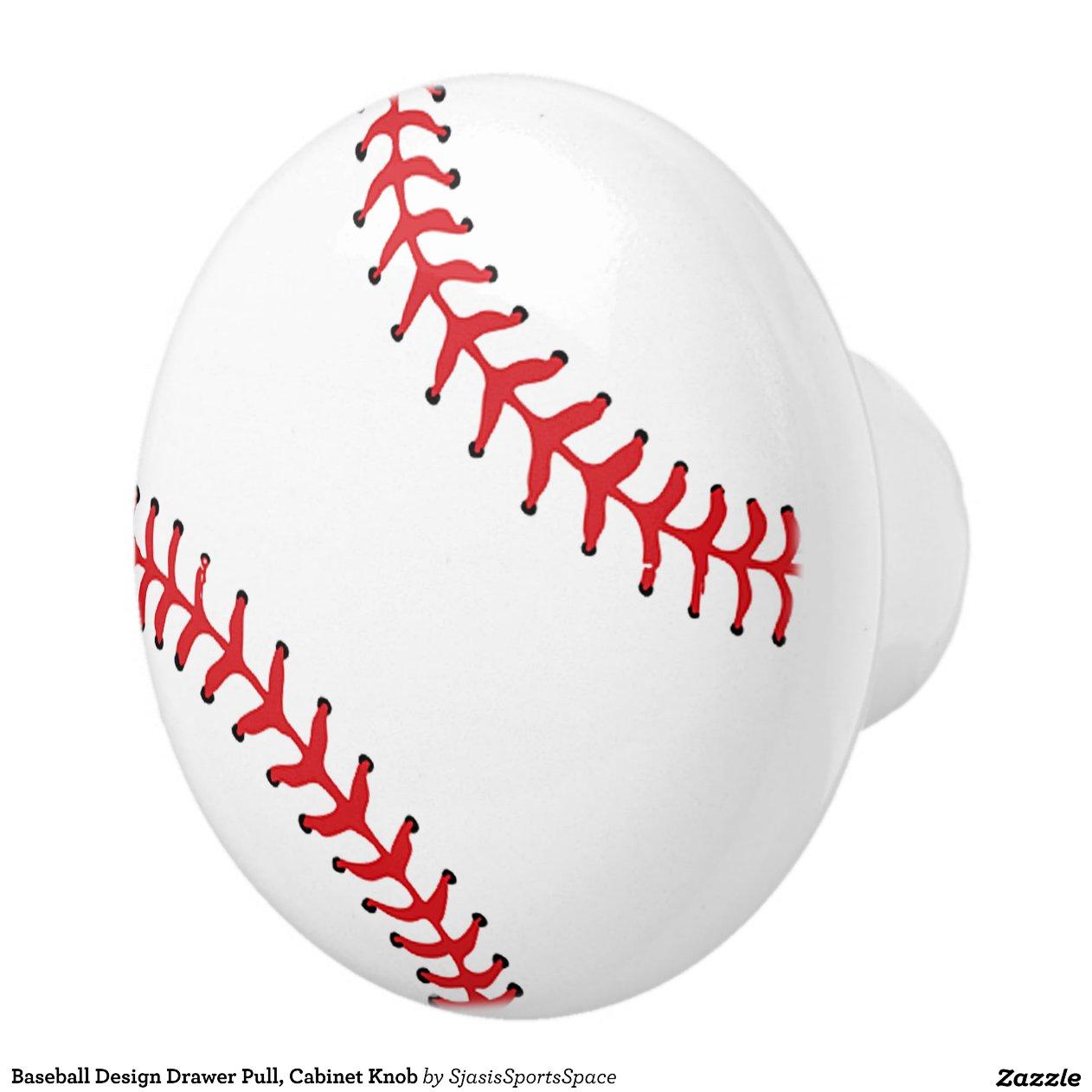 baseball_design_drawer_pull_cabinet_knob_ceramic_knob ...