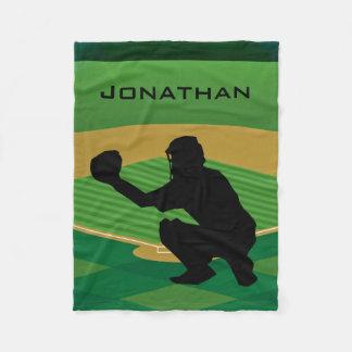 Baseball Design Fleece Blanket