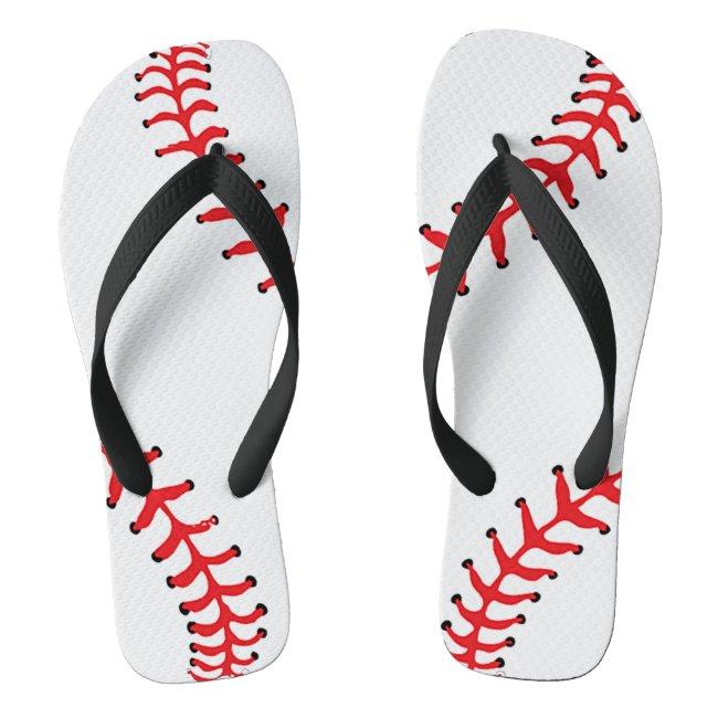 Baseball Design Flip Flops