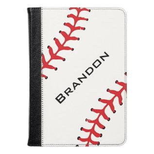 Baseball Design Folio Case at Zazzle