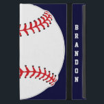 """Baseball Design iPad Air Case<br><div class=""""desc"""">Baseball Design iPad Air Case with customizable text.  For no text,  delete sample text and leave blank.  Background color can be changed by selecting customize,  edit and background.</div>"""