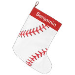 Baseball Design Large Christmas Stocking