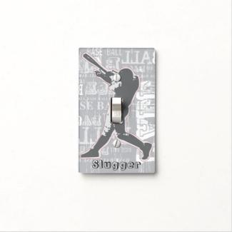 Baseball Design Light Switch Cover