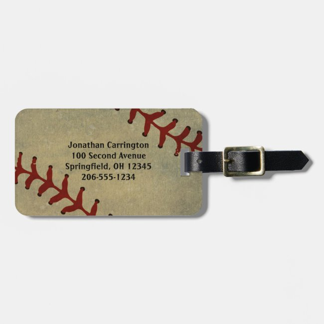 Baseball Design Luggage Tags