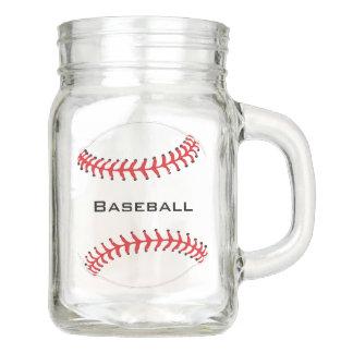 Baseball Design Mason Jar