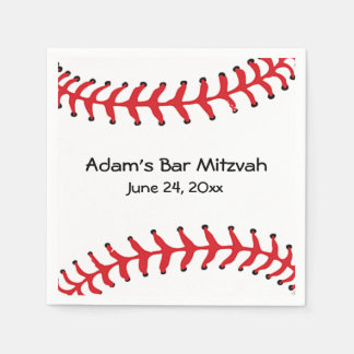 Baseball Design Paper Napkins