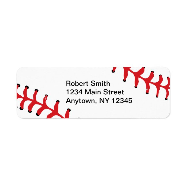 Baseball Design Return Address Labels