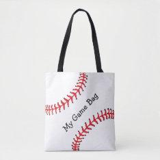 Baseball Design Tote Bag at Zazzle