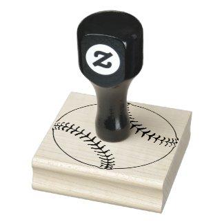 Baseball Design Wooden Stamp