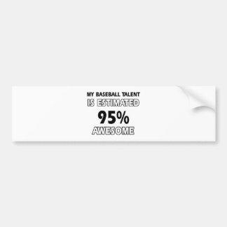 baseball Designs Bumper Sticker