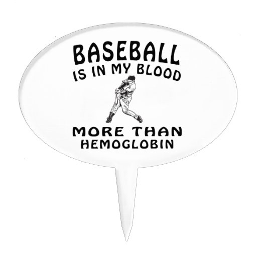 Baseball designs cake pick