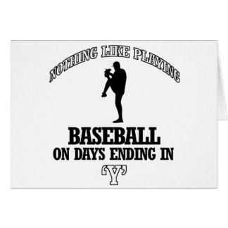 Baseball designs card