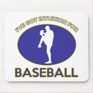 Baseball designs mouse pad