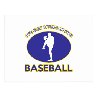 Baseball designs postcard