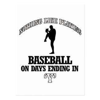 Baseball designs postcard