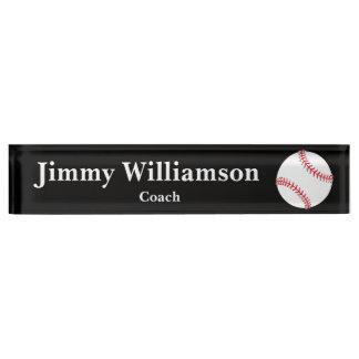 Baseball Desk Name Plate