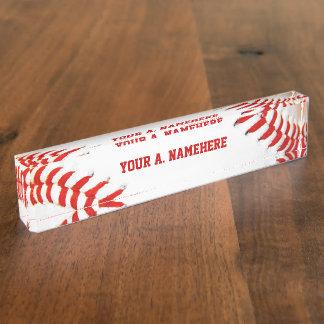 Baseball Desk Nameplate