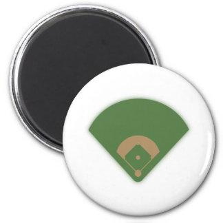 Baseball Diamond: 2 Inch Round Magnet
