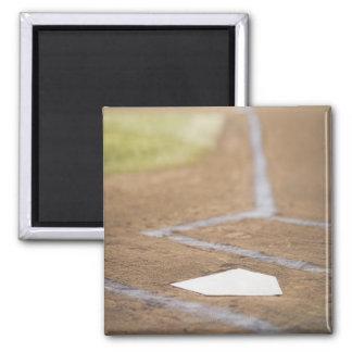 Baseball diamond 2 inch square magnet