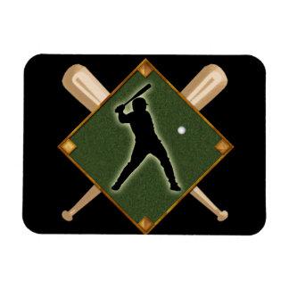 Baseball Diamond Batter 1 Rectangular Photo Magnet