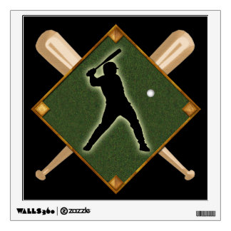 Baseball Diamond Batter 1 Wall Sticker
