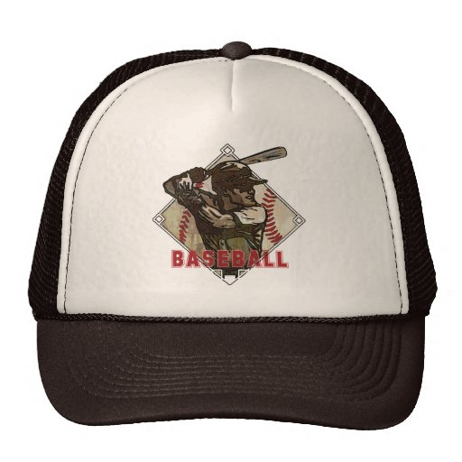 Baseball Diamond Batter Mesh Hats