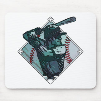 Baseball Diamond Batter Mousepads