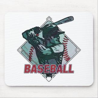 Baseball Diamond Batter Mouse Pad