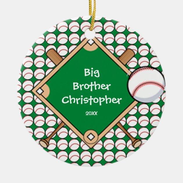 Big Brother Christmas Ornament Part - 24: BaseBall Diamond Big Brother Christmas Ornament   Zazzle