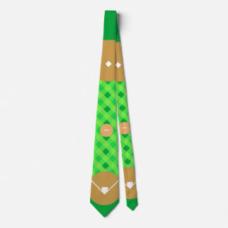 Baseball Diamond Bird's-eye View Illustration Tie