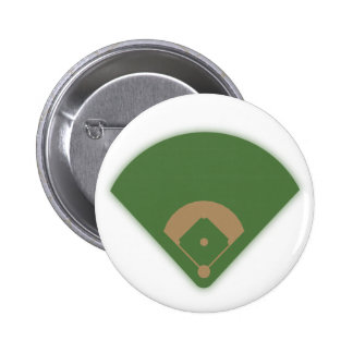 Baseball Diamond: Pinback Button