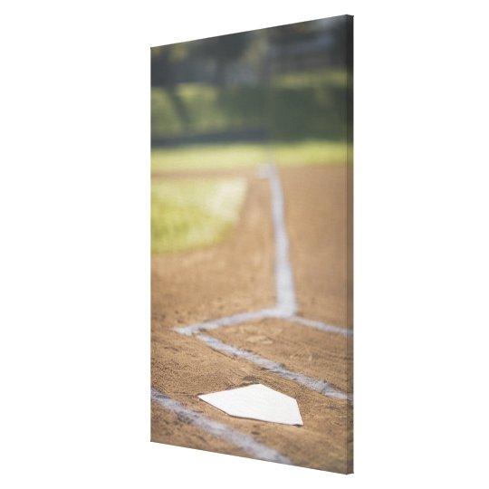 Baseball diamond canvas print