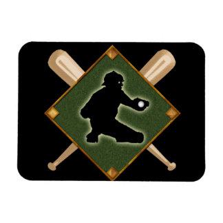 Baseball Diamond Catcher 1 Rectangular Photo Magnet