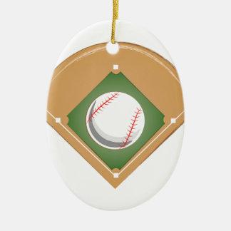 Baseball Diamond Ceramic Ornament