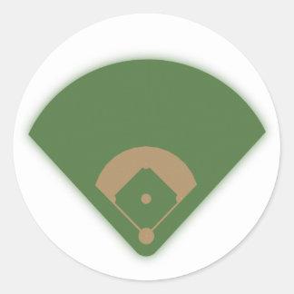 Baseball Diamond: Classic Round Sticker