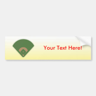 Baseball Diamond: Custom Bumper Sticker