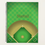 "Baseball Diamond Design Weekly/Monthly Planner<br><div class=""desc"">Baseball Diamond Design Weekly/Monthly Planner with customizable text.</div>"